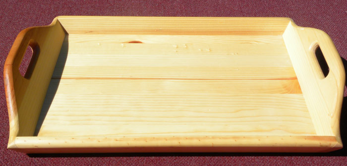 Grill Time Hand-Crafted Wood Serving Tray